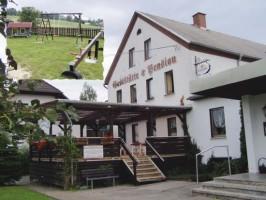 Unsere Gaststätte mit Biergarten und Kinderspielplatz